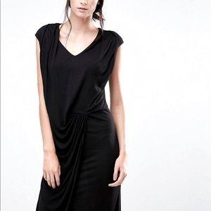 YAS ruched black dress